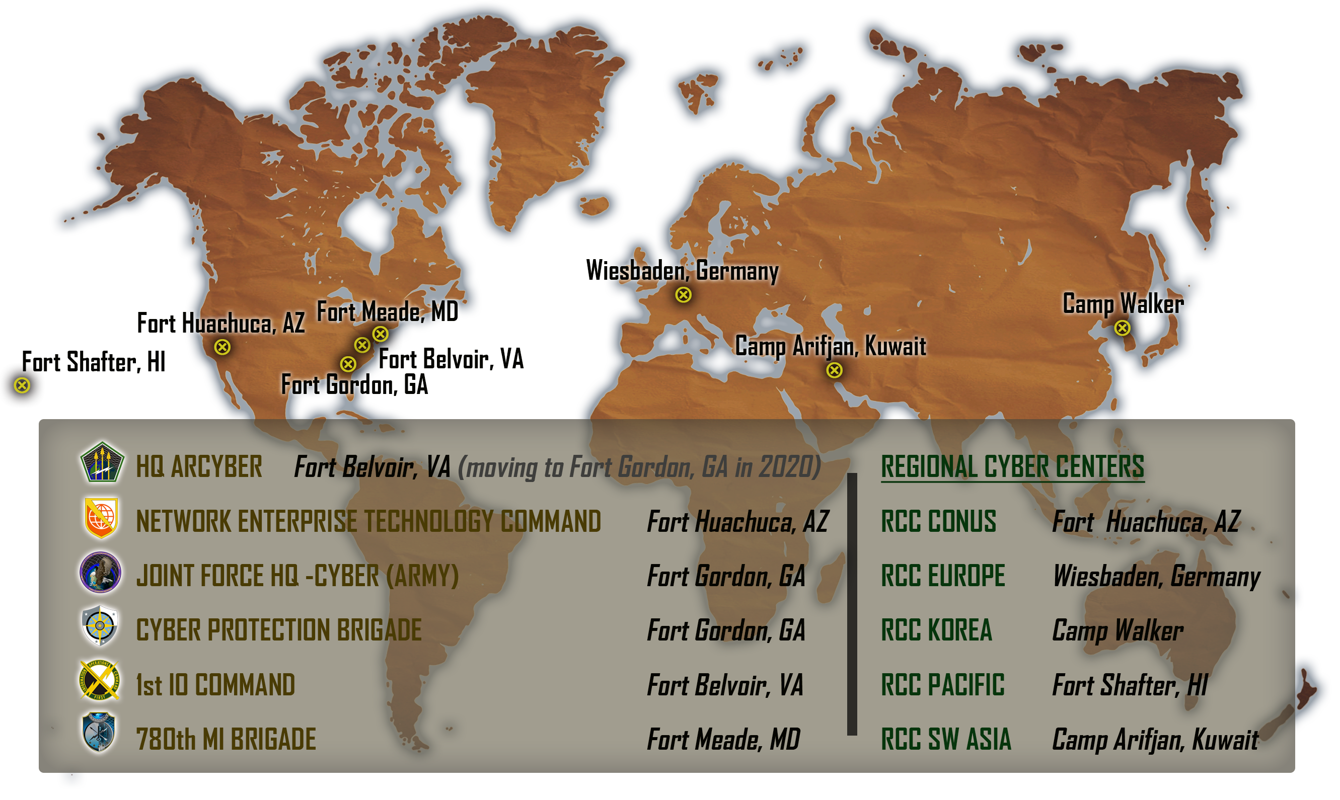 ARMY CYBER FACT SHEET: Army Cyber Command Worldwide