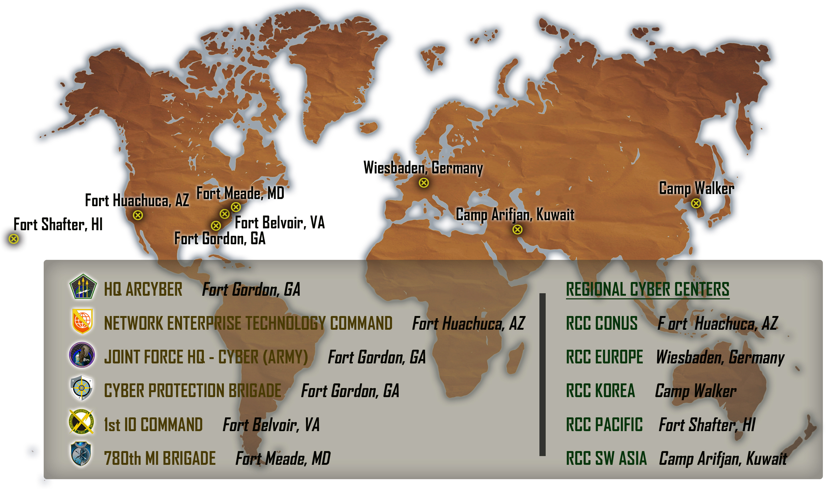 ARCYBER Worldwide Locations